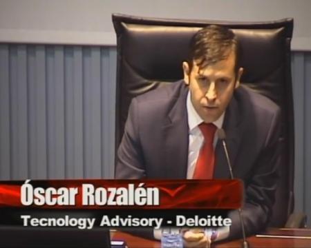 D. Óscar Rozalén. Xerente da Área de Technology Advisory de Deloitte. - Xornada sobre Introdución e aplicación do Esquema Nacional de Interoperabilidade nas Administracións Públicas